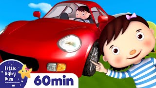 Driving in My Car | +More Nursery Rhymes & Kids Songs | ABCs and 123s | Little Baby Bum