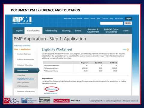 How To Fill PMP Exam Application - YouTube