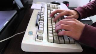 IBM Model M keyboard typing sound