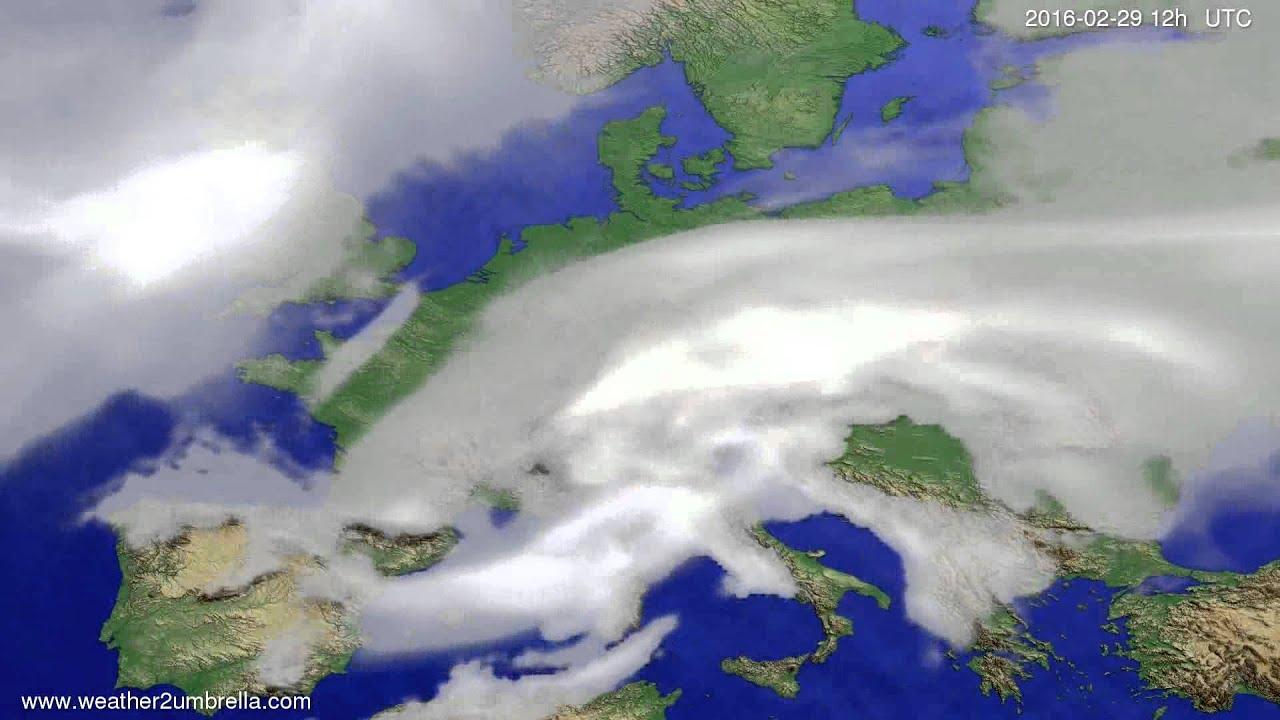 Cloud forecast Europe 2016-02-25