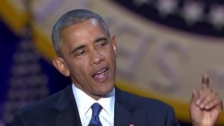 President Obama says goodbye