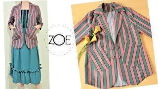 DIY Sewing Short Blazer 3/4 Sleeve Coat Develop Basic Pattern|  Zoe DIY