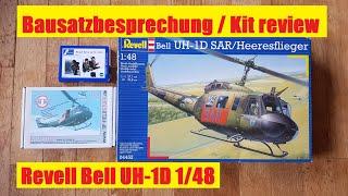 Bausatzbesprechung / Kit review Revell Bell UH-1D SAR/Heeresflieger (English subtitles) 1 48