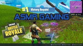 ASMR Gaming   My 1st Solo Victory Royale Win In Fortnite (5th Win) ★Controller Sounds + Whispering☆
