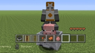 Minecraft how to make a working pig car
