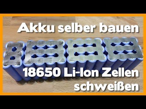 Akku selber bauen - Ebike Akku aus 18650 Li Ion Zellen schweißen - Part 2 battery spot welder