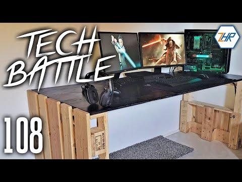 Tech Battle Episode 108 - Schreibtisch aus Europaletten!