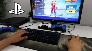How to CONNECT KEYBOARD AND MOUSE TO PS4 (Fortnite) (EASY METHOD)