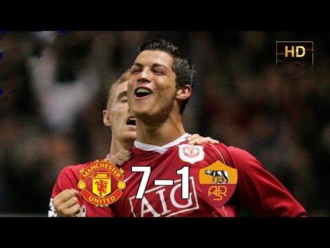 Манчестер Юнайтед vs Рома 7-1 Лига Чемпионов 10.04.07 HD
