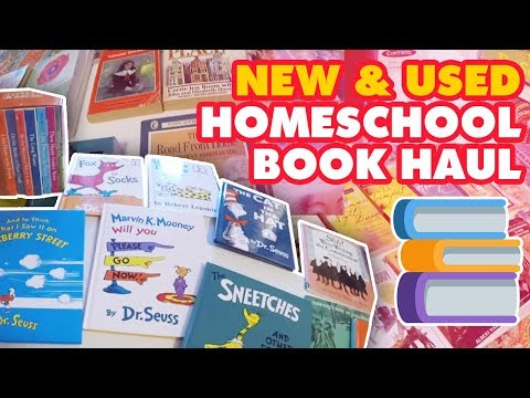 New & Used Homeschool Book Haul | Homeschool Mom Fun :)