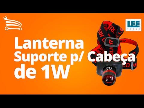 Lanterna com Suporte para Cabeça de 1W  de Iluminação - Video
