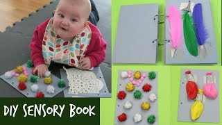 DIY SENSORY BOOK FOR BABYS TUMMY TIME | HOW TO MAKE A SENSORY BOOK FOR BABIES