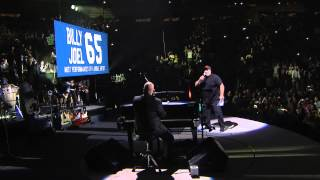 Billy Joel MSG 65th Concert Banner Presentation (July 1, 2015)