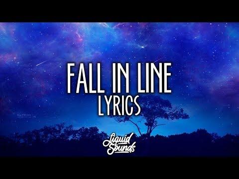 Christina Aguilera & Demi Lovato - Fall In Line (Lyrics / Lyric Video)