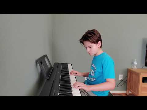 My student performs two songs for local online Festival