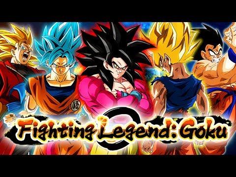 GOKU KICKS HIS OWN A$$! FULL GOKU TEAM VS. THE FIGHTING LEGEND: GOKU EVENT! | DBZ Dokkan Battle