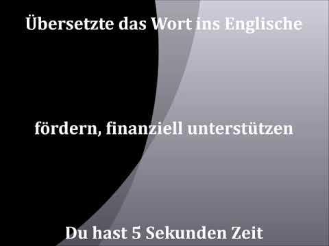 fördern, finanziell unterstützen | deutsch - englisch