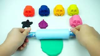 Learn Colors Play Doh Cars Play Foam Surprise Eggs Slime Toys
