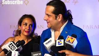 Fardeen Khan with his wife talking about his new movie