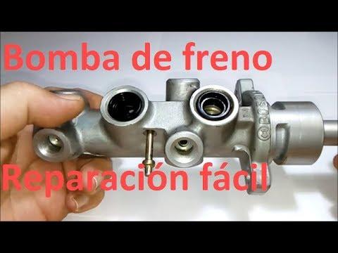 Reparación bomba de freno (cilindro maestro). Pedal se hunde.