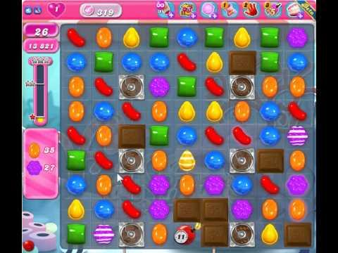 Candy Crush Saga Level 319 - 1 Star - no boosters