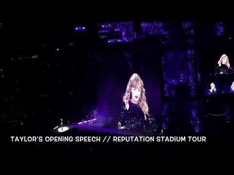 Taylor Swift's Opening Speech ~ reputation Stadium Tour Nashville
