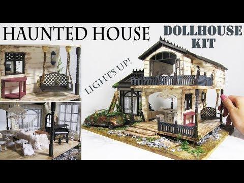 DIY Miniature Haunted House (lights up!)