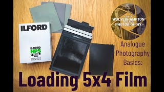 How to load 5x4 Sheet (Large format) film Wolverhampton College Photography