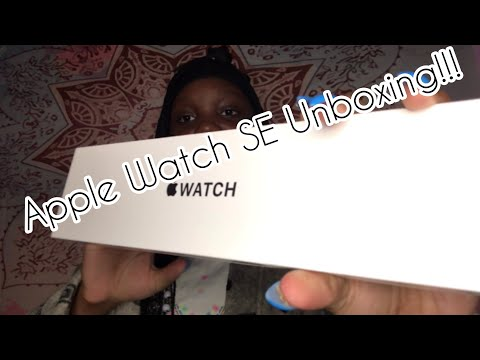 Apple Watch SE 40mm Unboxing+Silver!!!