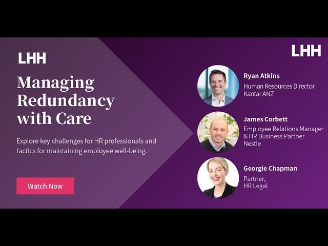 Redundancy with Care Webinar - Australia and New Zealand, Sept 2021
