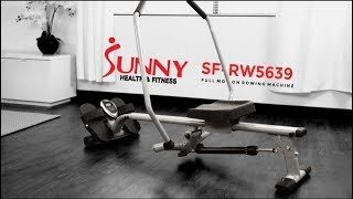 Sunny Health & Fitness SF-RW5639 Full Motion Rowing Machine