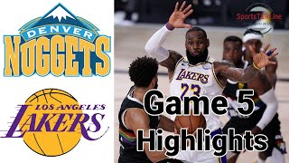 Nuggets vs Lakers HIGHLIGHTS Full Game   NBA Playoff Game 5