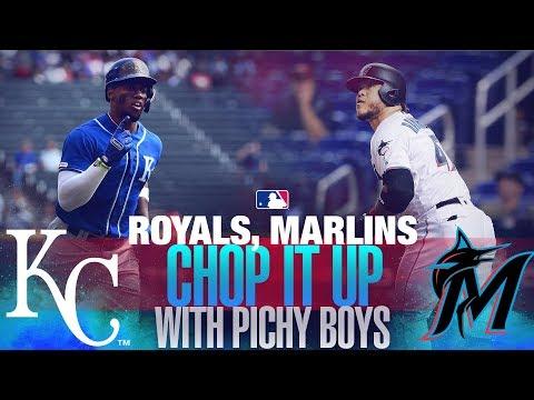 Marlins and Royals sit down with Los Pichy Boys at Marlins Park