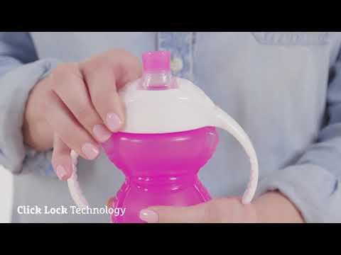 Munchkin поильник - чашка Click Lock Bite Proof ™с ручками голубой 237мл 6+