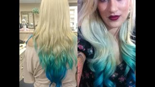 How To| DIY Colored Ombre Dip Dye Hair Tutorial