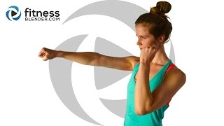 Cardio Kickboxing and Bodyweight Cardio Workout - Fat Burning Intervals by FitnessBlender