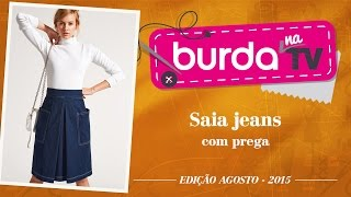 burda na TV 54 – Saia jeans
