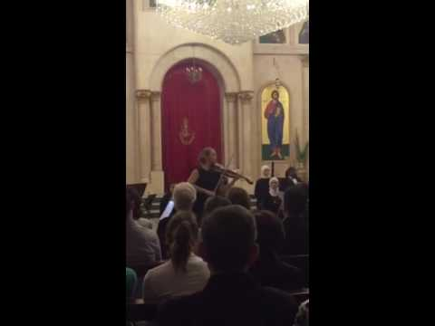 This is a fragment of me playing solo Vivaldi- Spring with a Jordanian Chamber Orchestra