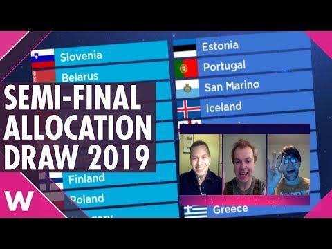 Eurovision 2019: Semi-Final Allocation Draw | Reaction