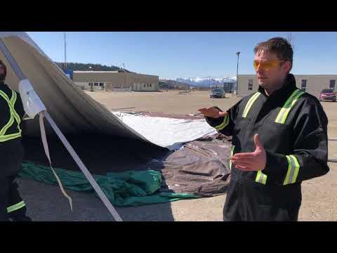 How To Setup 40x40 High-Peak Pole Tent   Part 2: Raising The Tent