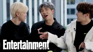 BTS: Watch The Hit K-Pop Group Teach Popular Korean Slang Words | Entertainment Weekly