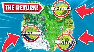 OG locations RETURNING to the Fortnite map!