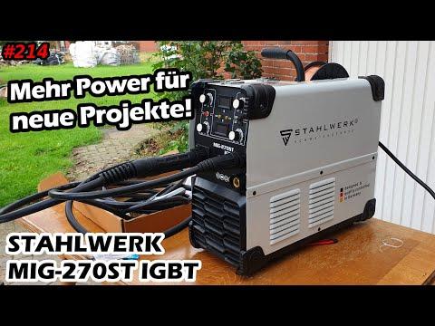 Mein neues Schweißgerät | Stahlwerk ST 270 IGBT | Schutzgasschweißgerät | Mr. Moto