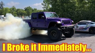 BROKE my new Hellcat Jeep Gladiator in 9 Minutes