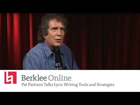 Berklee Online Interview: Pat Pattison Talks Lyric Writing Tools and Strategies