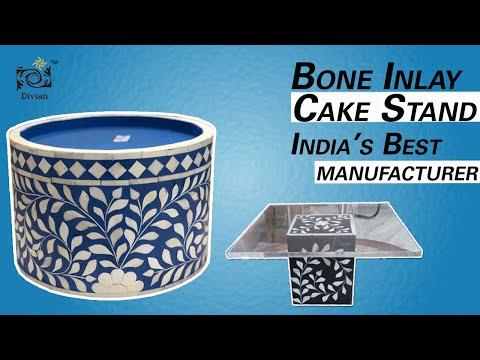 Bone Inlay Cake Stand