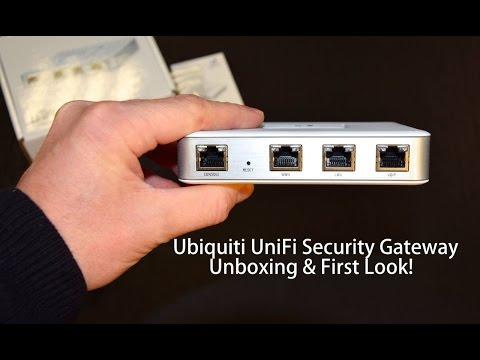 Ubiquiti UniFi Security Gateway Unboxing & First Look.