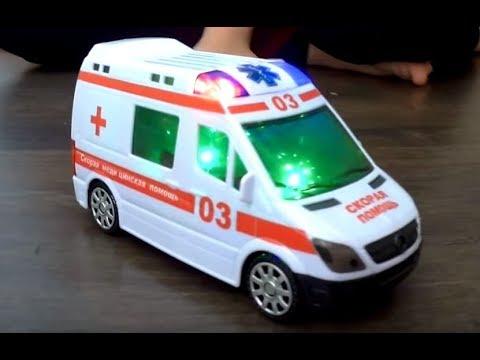 Игрушка скорая помощь машина с батарейками