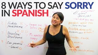 """How to say """"sorry"""" in Spanish – Top 8 ways"""