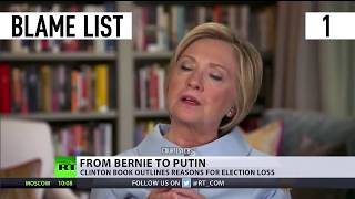 From Bernie to Putin: Clinton book outlines reasons for election loss